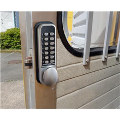 Borg Locks BL2202 ECP 28mm ali latch, inside paddle handle with holdback & ECP coding chamber - 28mm ali latch