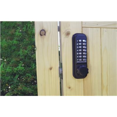 Borg Locks BL2601 – Marine grade, tubular latch, knurled knob keypad & inside paddle handle with optional holdback - Borg BL2601MG