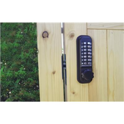 Borg Locks BL2602 ECP – Marine grade, 28mm ali latch, knurled knob keypad with ECP coding chamber & inside paddle handle with optional holdback - BL26