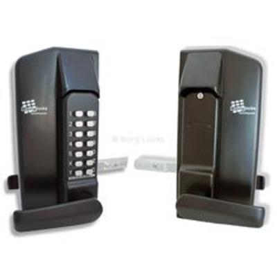 Borg Locks BL3400 metal gate lock lever handle. Keypad one side - Keypad one side, Plain inside handle
