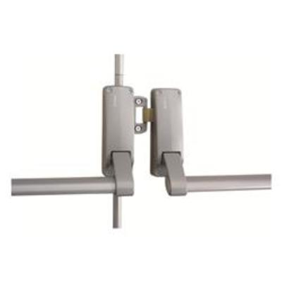 Briton 377 Double Rebated Panic Push Bar Set - Double wooden door panic bar set