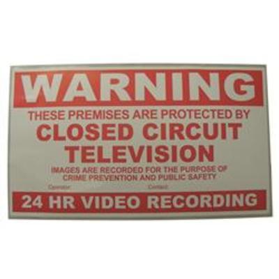 CCTV Warning Sign - Warning sign