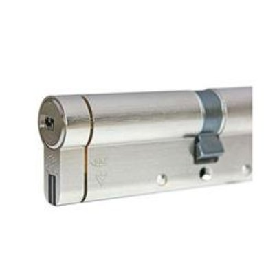 CISA Astral S24 QD Euro Double Cylinder - 35-35 Satin Steel