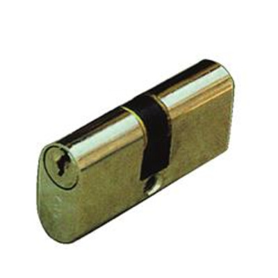 CISA C2000 Small Oval Double Cylinder - 27.5 x 27.5 nickel