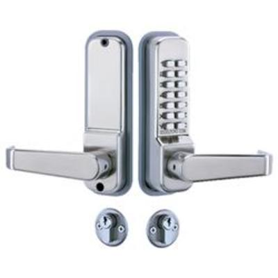 Codelocks CL420 Mortice Lock with Cylinder and Anti Panic safety Function - Mortice lock, cylinder and digi lock kit