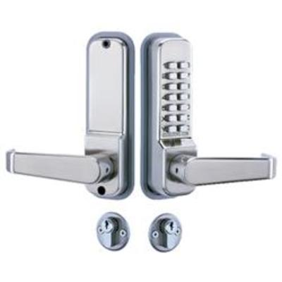 Codelocks CL425 Mortice Lock with Cylinder and Anti Panic safety Function and Code Free - Mortice lock, cylinder and digi lock kit with Code Free
