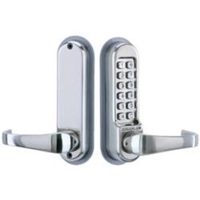 Codelocks CL510 Tubular Mortice Latch Lock - Mortice latch version with lever handles