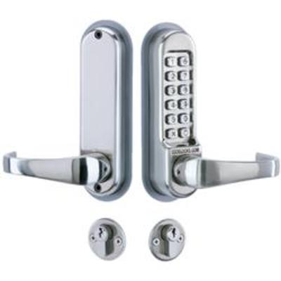 Codelocks CL520 Mortice Lock with Cylinder and Anti Panic safety Function - Mortice lock, cylinder and digi lock kit