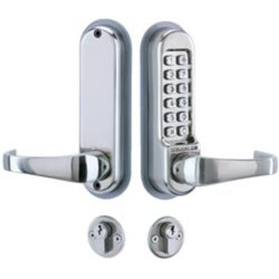 Codelocks CL525 Digital Lock, Mortice Lock with Cylinder and Anti Panic safety Function and Code Free - Mortice lock with double cylinder, Code Fre F