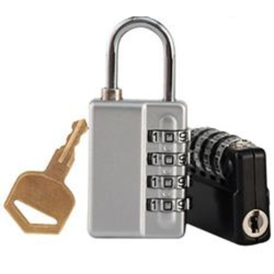 Combination Padlock with Master key and code reveal - Combi reveal