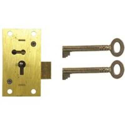 D10 2 LEVER STRAIGHT CUPBOARD LOCK - Non handed