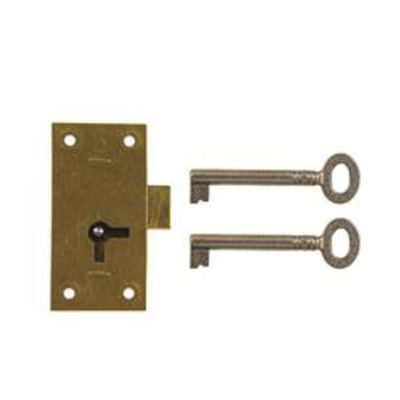 D12 1 LEVER STRAIGHT CUPBOARD LOCK - Non handed