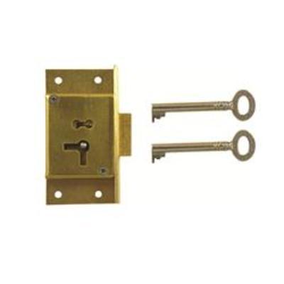 D7 2 LEVER CUT CUPBOARD LOCK - Left hand