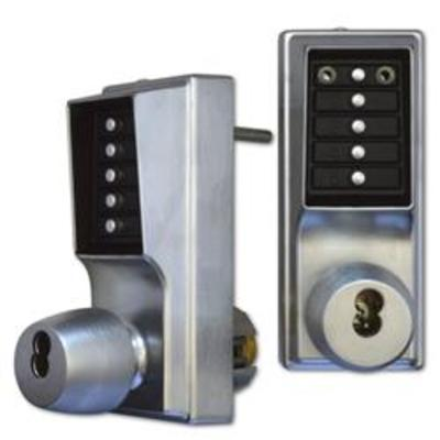 DORMAKABA EE1000 Series EE1021B Back To Back Digital Lock With Key Override On Both Sides - SC With Cylinder
