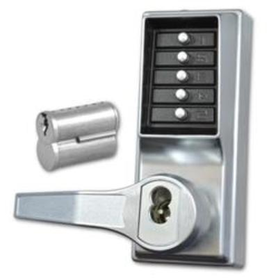 DORMAKABA LP1000 Series Front Only Digital Lock To Suit Panic Latch With Key Override - SC LH With Cylinder