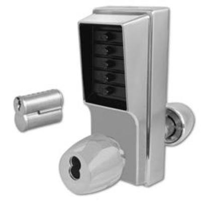 DORMAKABA Series 1000 1041B Knob Operated Digital Lock With Key Override & Passage Set - SC With Cylinder