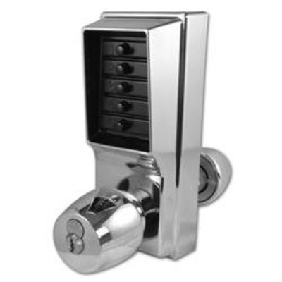 DORMAKABA Simplex 1000 Series 1021B Knob Operated Digital Lock With Key Override - SC With Cylinder