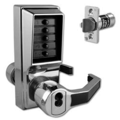 DORMAKABA Simplex L1000 Series L1041B Digital Lock Lever Operated With Key Override & Passage Set - SC RH With Cylinder