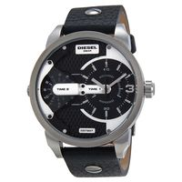 Diesel DZ7307 Mini Daddy Black Leather Mens Watch