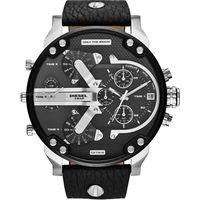 Diesel DZ7313 Mr. Daddy Black Leather Mens Watch
