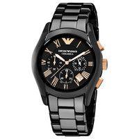 Emporio Armani AR1410 Black Chronograph Mens Watch