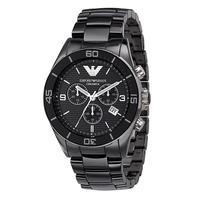 Emporio Armani AR1421 Mens Black Ceramic Chronograph Watch