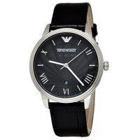 Emporio Armani AR1611 Black Leather Mens Watch