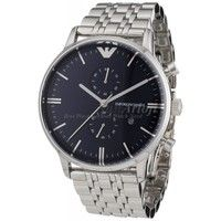 Emporio Armani AR1648 Mens Chronograph Silver Stainless Steel Watch