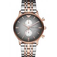 Emporio Armani AR1721 Mens Chronograph Two -Tone Bracelet Watch