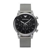 Emporio Armani AR1811 Chronograph Black Dial Steel Mens Watch