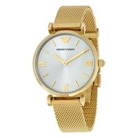 Emporio Armani AR1957 Ladies Gold Mesh Stainless Steel Watch