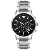 Emporio Armani AR2434 Silver Chronograph Mens Watch