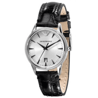 Emporio Armani AR2443 Ladies Black Leather Watch