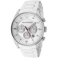 Emporio Armani AR5859 White Chronograph Mens Watch
