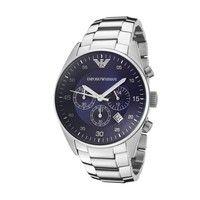 Emporio Armani AR5860 Silver Chronograph Mens Watch