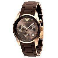 Emporio Armani AR5891 Brown and Rose Gold Chronograph Mens Watch