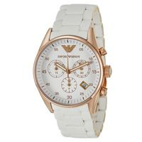 Emporio Armani AR5920 White Sportivo Ladies Watch