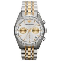 Emporio Armani AR6116 Mens Two-Tone Chronograph Watch