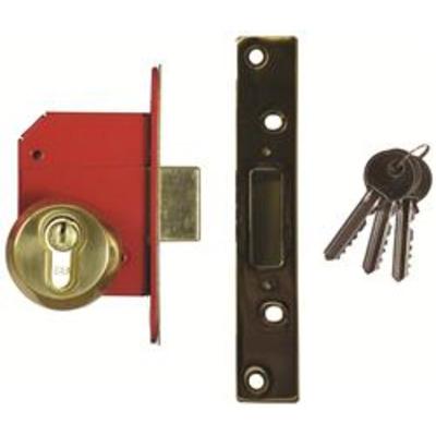 Era BS3621-2004 Euro Deadlock Complete Lockset - 67mm (2 &frac12-)