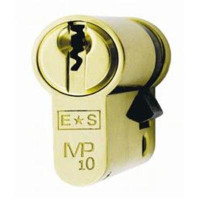 Eurospec MP10 Half euro cylinder - MP10 35/10 Satin Chrome