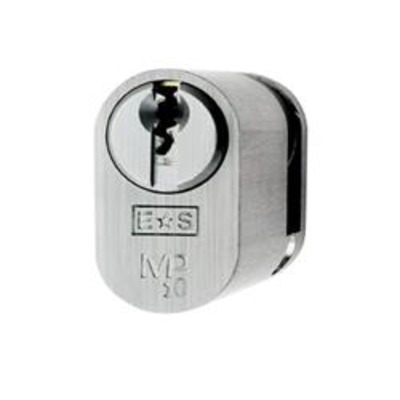 Eurospec MP10 UK Half Oval cylinder - MP10 10-32 Polished Brass