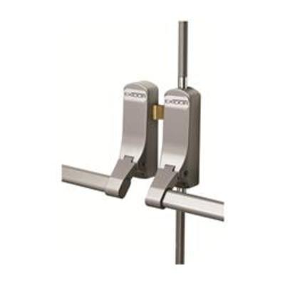 Exidor 285 Double Rebated Panic Push Bar Set - Double wooden door panic bar set