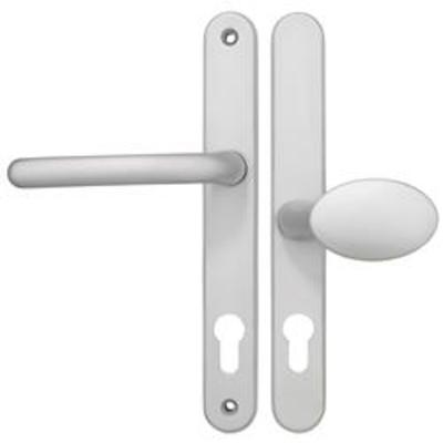 Fab & Fix Balmoral Centres-PZ- 62mm (pad side) 92mm (lever side) Screw Centres- 212mm Backplate 243mm x 30mm - White