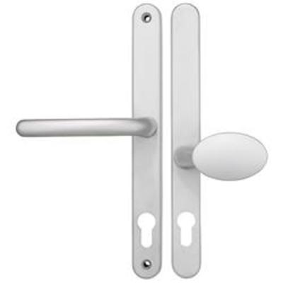 Fab & Fix Blenheim Centres-PZ- 62mm (pad side) 92mm (lever side) Screw Centres- 240mm Backplate- 268mm x 32mm - White