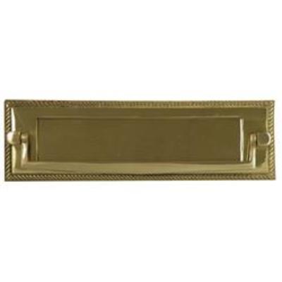 Georgian Postal Knocker Letter Plate - Brass (PB)