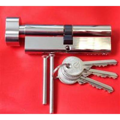 GreenteQ Euro Thumb turn Cylinders - Turn 32-32 Ext Nickel