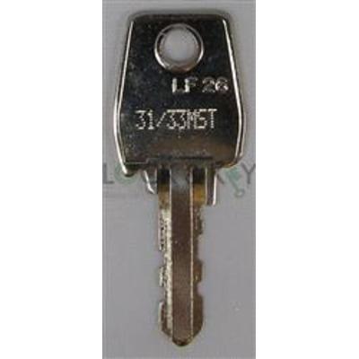 Helmsman locker keys L&F 31 series key code 31001-33000 - L&F 31 series key cut to code 31001-33000