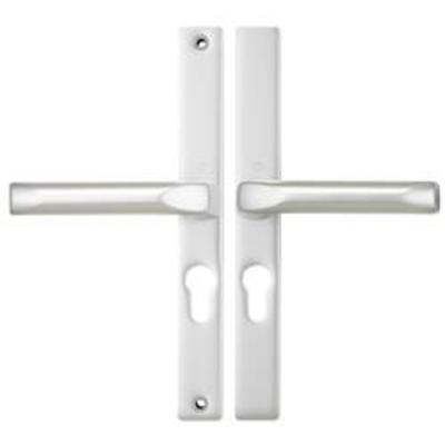 Hoppe London Centres-PZ- 48mm Screw Centres 215mm Backplate 235mm x 28mm - White