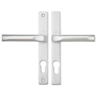 Hoppe London Centres-PZ- 70mm Screw Centres- 180mm Backplate 205mm x 28mm - White