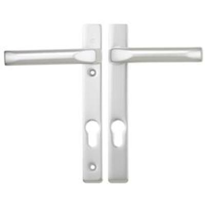Hoppe London Centres-PZ- 92mm Screw Centres- 122mm Backplate- 205mm x 26mm - White